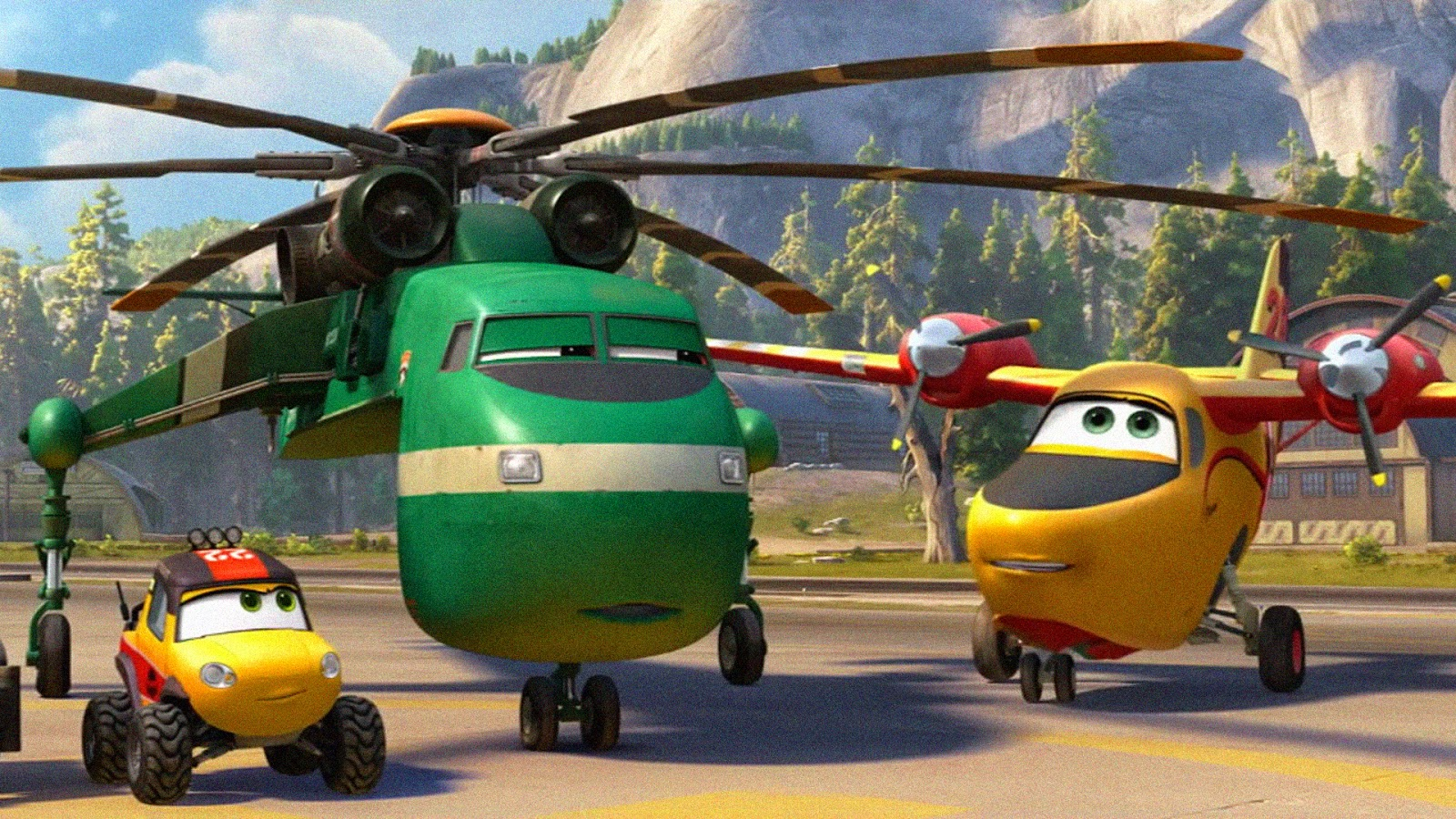 Planes fire rescue soars home on blu ray and dvd nerdophiles these planes and vehicles are actually similiar to the real life equipment real firefighters would use voltagebd Choice Image