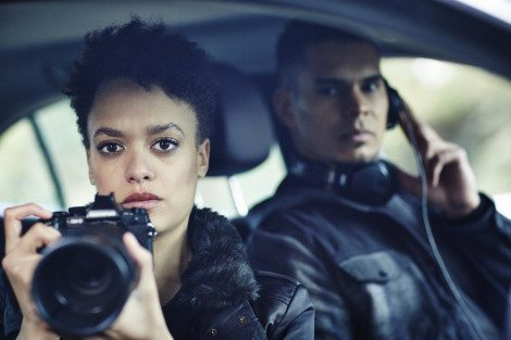 "HUNTERS -- ""The Beginning & The End"" Episode 101 -- Pictured: Britne Oldford as Allison Regan -- (Photo by: Ben King/Syfy)"