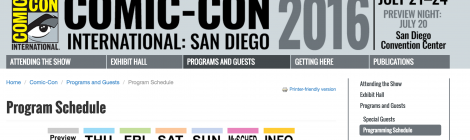 SDCC Sundays: Make a Schedule, Check it Twice