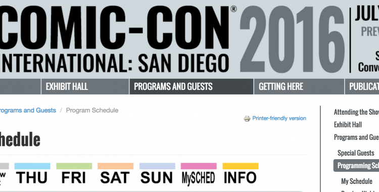 SDCC Sundays: Make a Schedule, Check it Twice