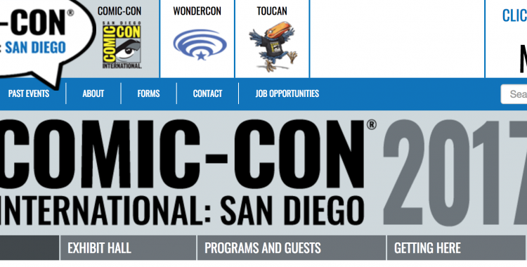 Prepare for SDCC Returning Registration 2017!