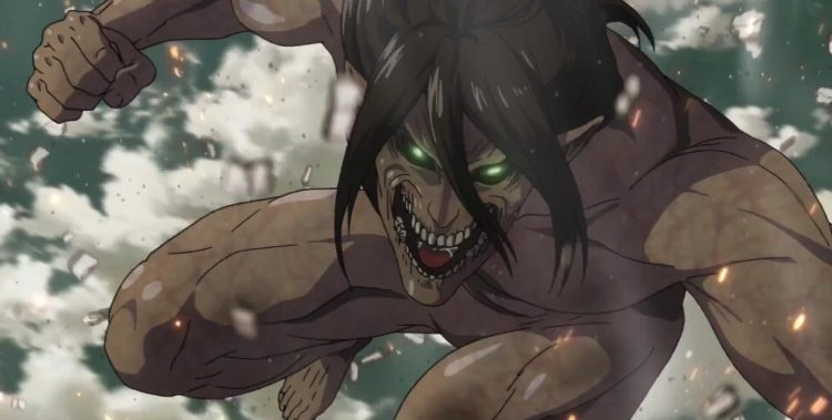 Attack on Titan Eren launches into attack