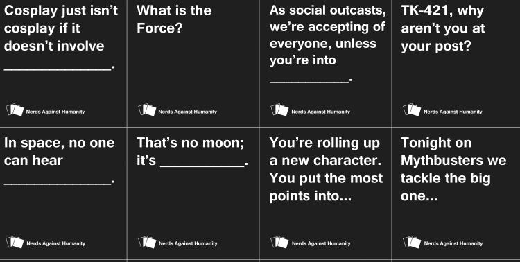 Your Cards Against Humanity Deck Just Got Nerdier Nerdophiles