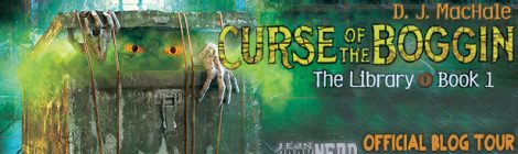 """Book Tour: DJ MacHale is Back with 'The Curse of the Boggin' - the 1st Book in His New """"The Library"""" Series [Giveaway]"""