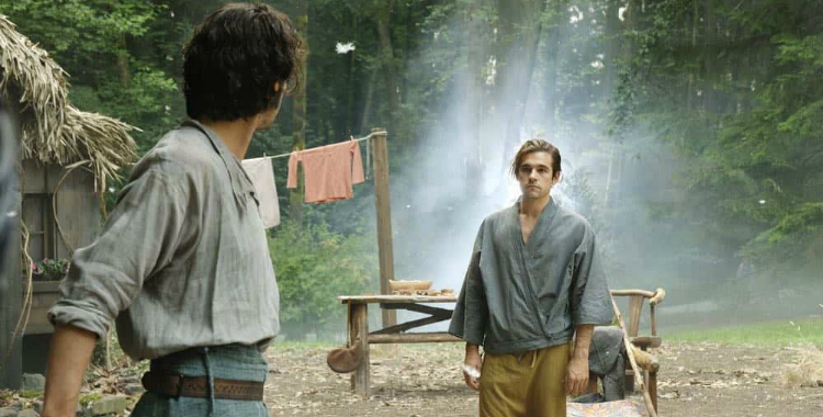 The Magicians Season 3 Episode 5 Quentin and Eliot exchange glares after hard work