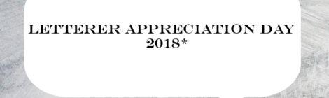 Letterer Appreciation Day
